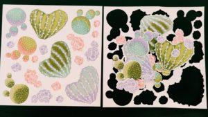 Designerpapier Blühender Kaktus